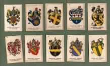 Collectable Tobacco Cigarette cards set  Heraldic Series, 1924. set of 25 silks